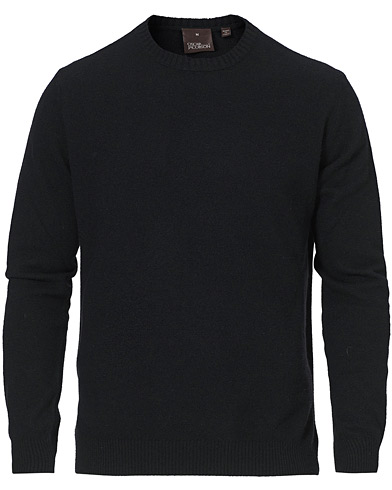 Oscar Jacobson Valter Wool/Cashmere Round Neck Black