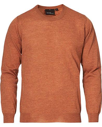 Oscar Jacobson Custer Extra Fine Merino Crew Neck Orange