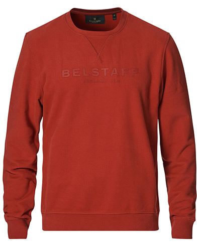 Belstaff 1924 Crew Neck Logo Sweat Red