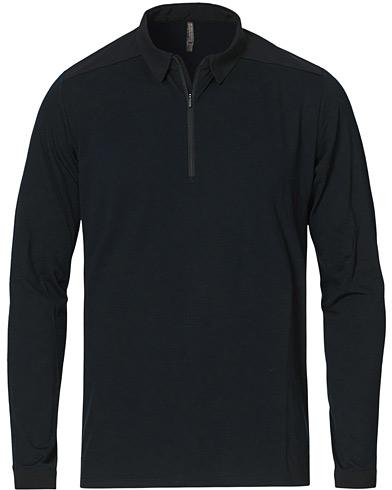 Arc'teryx Veilance Frame Long Sleeve Polo Black