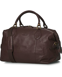 Barbour Lifestyle Leather Medium Travel Explorer Brown
