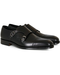 Cannon Monkstrap Black Calf