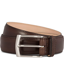 Henry Leather Belt 3,3 cm Dark Brown