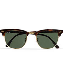 Ray-Ban Clubmaster Sunglasses Mock Tortoise/Crystal Green