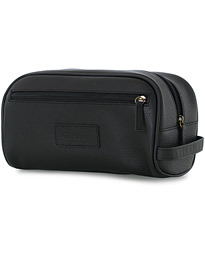 Leather Washbag Black