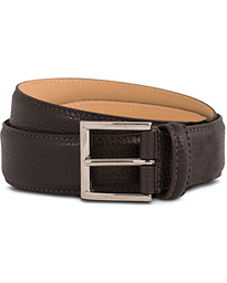 Belt 3,5 cm Dark Brown Grained Calf