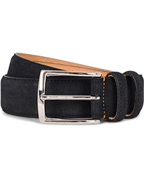 Morris Suede 3,5 cm Belt Dark Blue