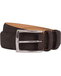 Morris Suede 3,5 cm Belt Dark Brown