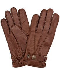 Jake Wool Lined Buckle Glove Chestnut