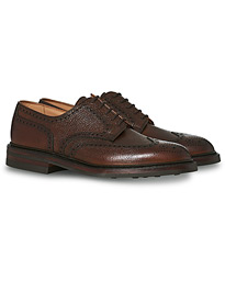 Crockett & Jones Pembroke Derbys Dark Brown Grained Calf