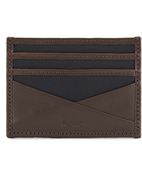 M/S Cardholder Navy/Dark Brown