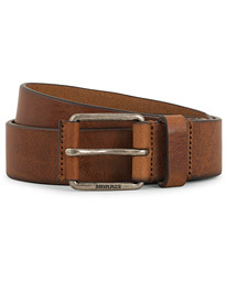 Morris Leather Jeans 3,5 cm Belt Brown
