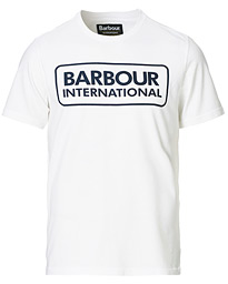 Barbour International Large Logo Crew Neck Tee White