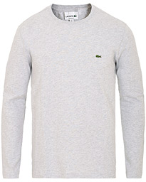 Lacoste Long Sleeve Crew Neck Tee Argent Chine