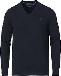 Polo Ralph Lauren Pima Cotton V-neck Pullover Hunter Navy