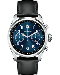 Montblanc Summit2 42mm Smartwatch Steel / Black Calf