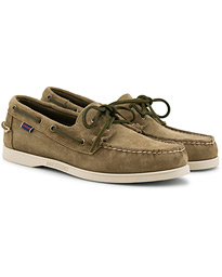 Docksides Suede Boat Shoe Green Military