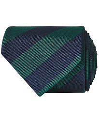 Regemental Stripe Classic Tie 8 cm Green/Navy
