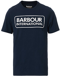 Barbour International Large Logo Crew Neck Tee Navy