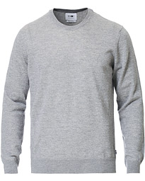 Ted Extra Fine Merino Crew Neck Pullover Medium Grey
