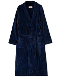 Derek Rose Cotton Velour Gown Navy