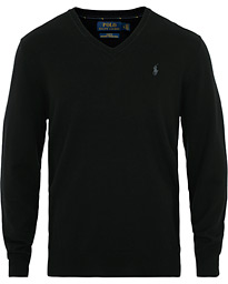 Polo Ralph Lauren Merino V Neck Pullover Black