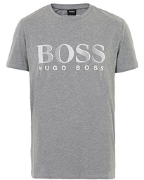 BOSS Logo Crew Neck Tee Grey
