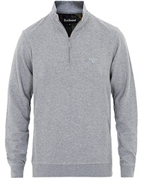 Barbour Lifestyle Batten Cotton/Modal Half Zip Grey Marl