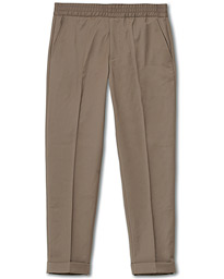 Filippa K Terry Gabardine Cropped Trousers Grey Taupe