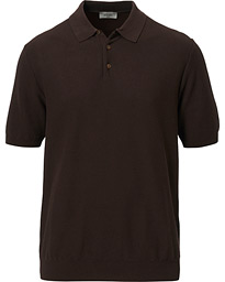 Altea Waffle Knitted Polo Brown