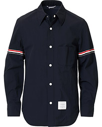 Thom Browne Armband Shell Nylon Shirt Jacket Navy