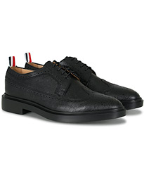 Thom Browne Pebble Grain Longwing Brogue Black Calf