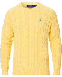 Polo Ralph Lauren Cotton Cable Crew Neck Pullover Yellow