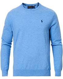 Polo Ralph Lauren Pima Cotton Crew Neck Pullover Soft Royal Heather