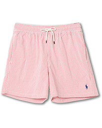 Polo Ralph Lauren Seersucker Stripe Swimshorts Red/White