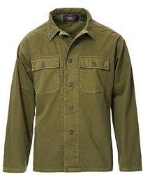 RRL Military Twill Overshirt Olive