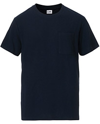 Clive Knitted Crew Neck Tee Navy