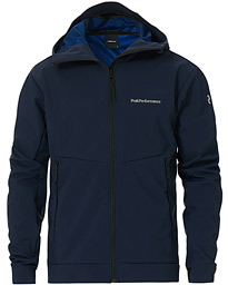 Peak Performance Adventure Hooded Jacket Blue Shadow