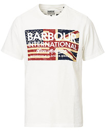 Barbour International Steve McQueen Vintage Flag Tee White