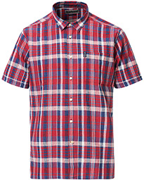 Barbour Lifestyle Cotton/Linen Short Sleeve Check Shirt Red