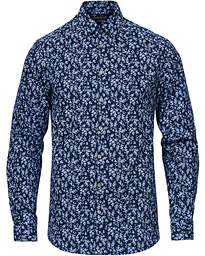 Tiger of Sweden Ferene Printed Flower Shirt Navy