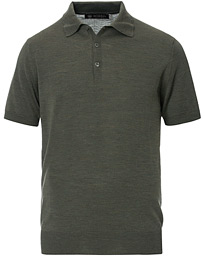 Morris Heritage Short Sleeve Knitted Polo Shirt Olive