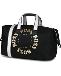 BOSS Pixel Circle Weekendbag Black/Gold