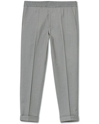 Filippa K Terry Gabardine Cropped Turn Up Trousers Mid Grey Mel