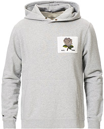 Rose Embroidered Hoodie Grey