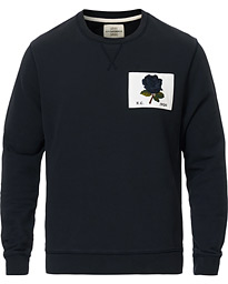 Rose Embroidered Sweatshirt Navy