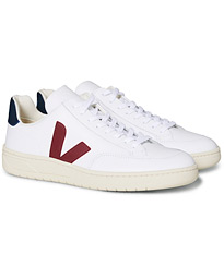 Veja V-12 Leather Sneaker White Marsala/Nautico