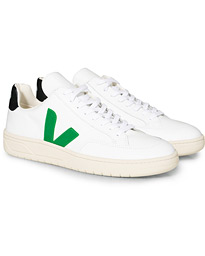 Veja V-12 Leather Sneaker Extra White/Emeraude Black
