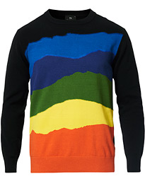 PS Paul Smith Cotton/Mohair Blend Striped Sweater Multi
