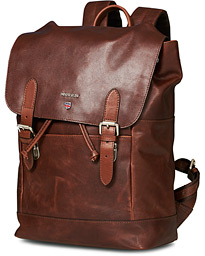 Morris Brydon Leather Backpack Chestnut Brown